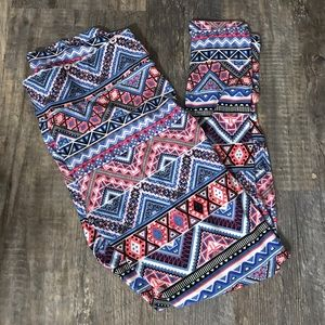 Lularoe tall and curvy leggings aztec tribal print